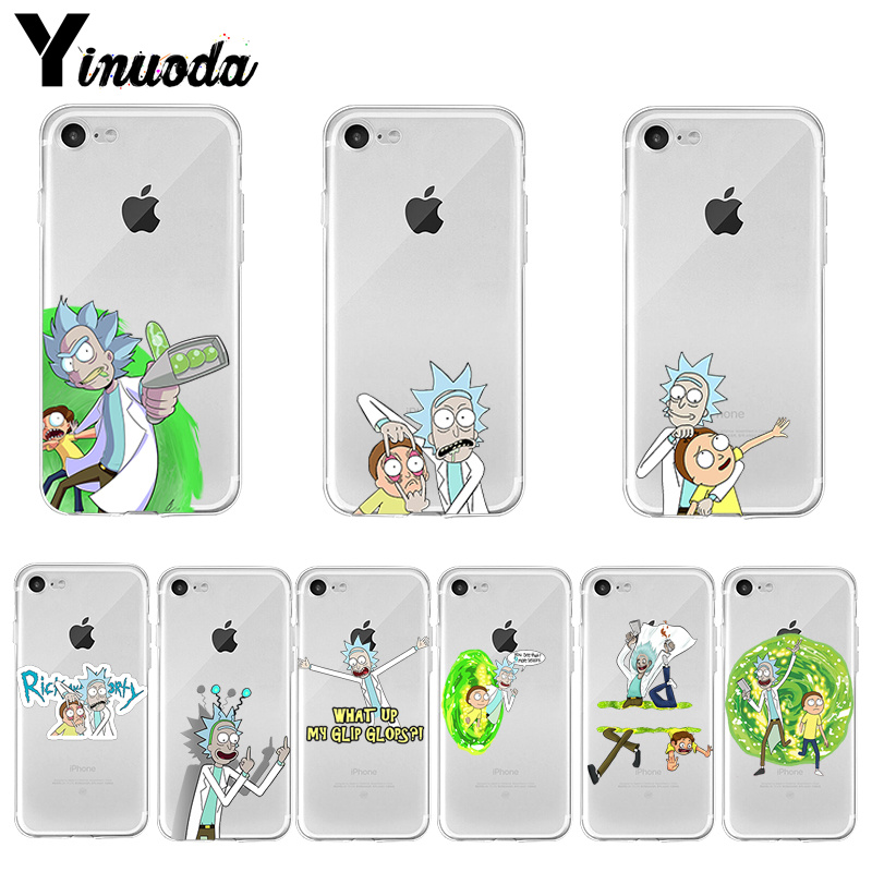 Yinuoda Rick and Morty Hot Printed Cool Phone Accessories case for iPhone 8 7 6 6S Plus X XS max 10 5 5S SE XR Coque Shell