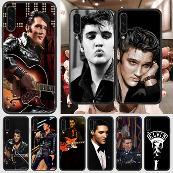 Elvis Presley Phone case For Samsung Galaxy A 3 5 7 8 10 20 21 30 40 50 51 70 71 E S 2016 2018 4G black tpu back silicone funda image
