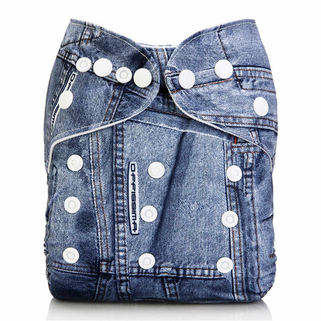 아기 소년 Gilrs 헝겊 기저귀 재사용 가능한 기저귀 빨 소프트 트레이닝 바지 커버 유아 팬티 삽입 신생아 장착 속옷