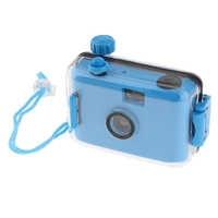 Impermeable bajo el agua Lomo cámara Mini Linda 35mm película con carcasa azul