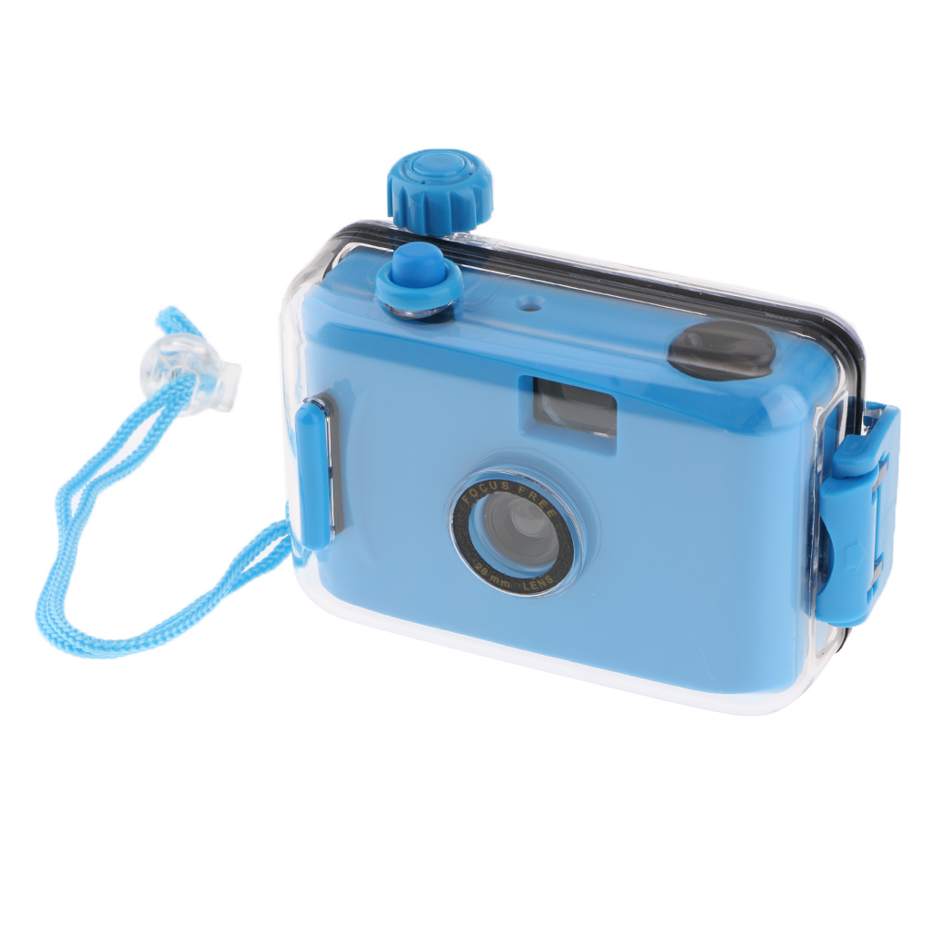Underwater Waterproof Lomo Camera Mini Cute 35mm Film With Housing Case Blue image