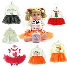 Nova chegada 40-50cm boneca renascer roupas estilo bonito vestido 15-19 polegadas boneca roupas diy acessórios para bonecas do bebê