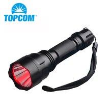 TOPCOM C8 высокомощный красный светодиодный фонарь светодиодный походный охотничий светильник-вспышка, жесткий светильник, длинный фонарь для велоспорта и охоты