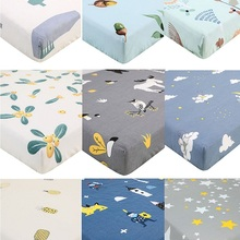 Mattress-Cover Crib Fitted-Sheet Newborn Bedding Baby Cartoon Soft for Cot-Size 130--70cm