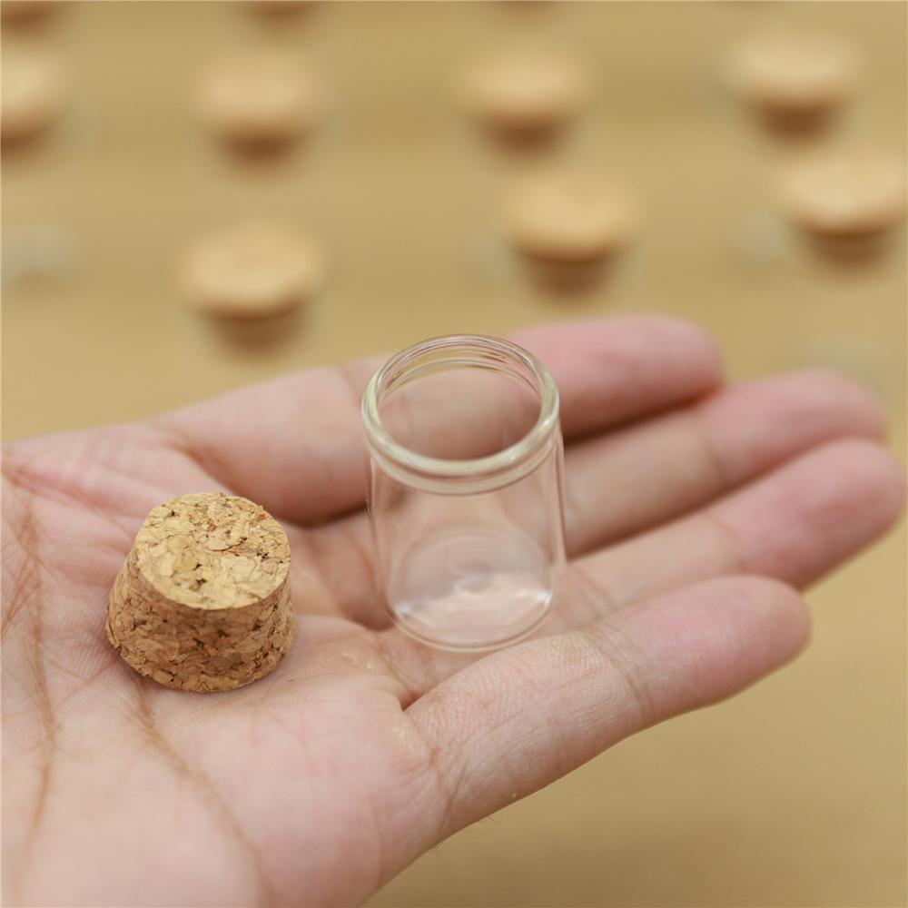 50pcs/lot 22*30mm 5ml Small Glass Vial Bottle Test Tube Cork Stopper Mini Bottle Container Jars Tiny Bottle glass