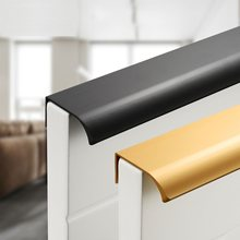 Black Gold Hidden Cabinet Handles Zinc Alloy Kitchen Cupboard Pulls Drawer Knobs Bedroom Door Furniture Handle Hardware