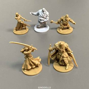 Lot 5pcs Board Games Miniatures  Warsgame Role Playing Figures PVC Toys Collection new 4pcs heroes board games nolzur s marvelous miniatures warsgame role playing figures pvc toys collection