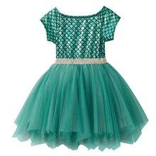 Cute Girls Dress Ball Gown Tulle Princess Scale Pattern Short Sleeve Bowknot Irregular Wedding Birthday Party Dresse