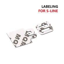 1 pçs metal carta emblema adesivos estilo tronco do carro acessórios emblema adesivo para audi s s3 s4 s5 s6 s8 r rs rs3 rs4 rs5 rs6 rs8