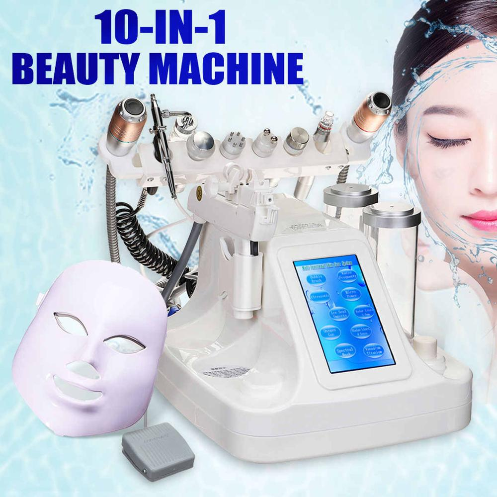 10 In 1 Oxygen Water Jet Device Diamond Peeling Microdermabrasion Hydra Dermabrasion RF Bio-lifting Spa Facial Machine