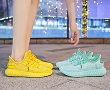 spring summer new trend women girl fashion lace-up flyknit casual sport shoes  woman sneakers