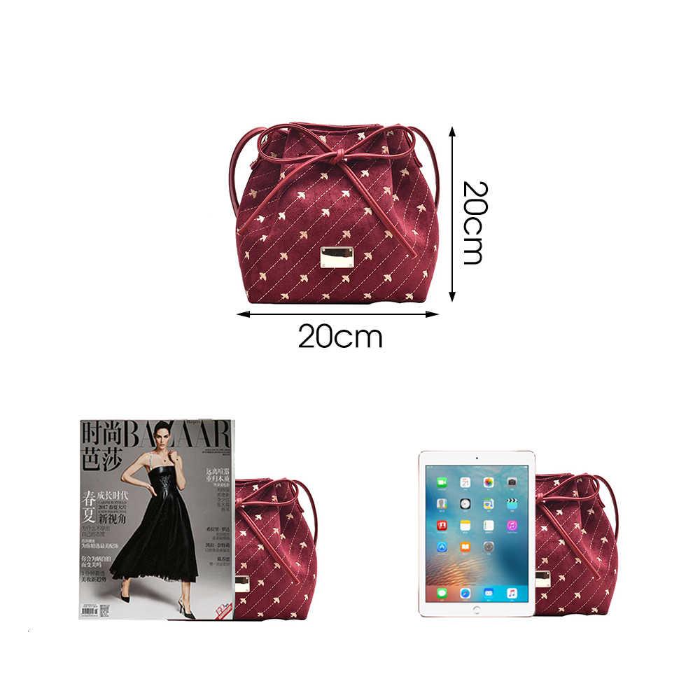 Herald модная женская сумка из искусственной замши на шнурке, винтажная сумка с вышивкой, сумки через плечо, рождественские подарки, новинка