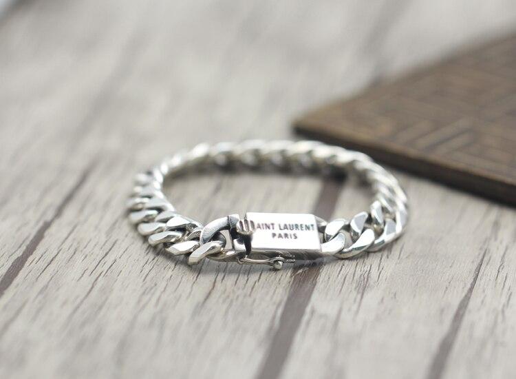 2017 s925 argent sterling nouveau bracelet Simple et généreux populaire rétro tressé bracelet style classique envoyer un cadeau à l'amour - 4