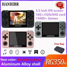 ANBERNIC Retro game RG350m 비디오 게임 업그레이드 hdmi 게임 콘솔 ps1 게임 64 비트 omendinux 3.5 인치 2500 + 게임 RG350 어린이 선물