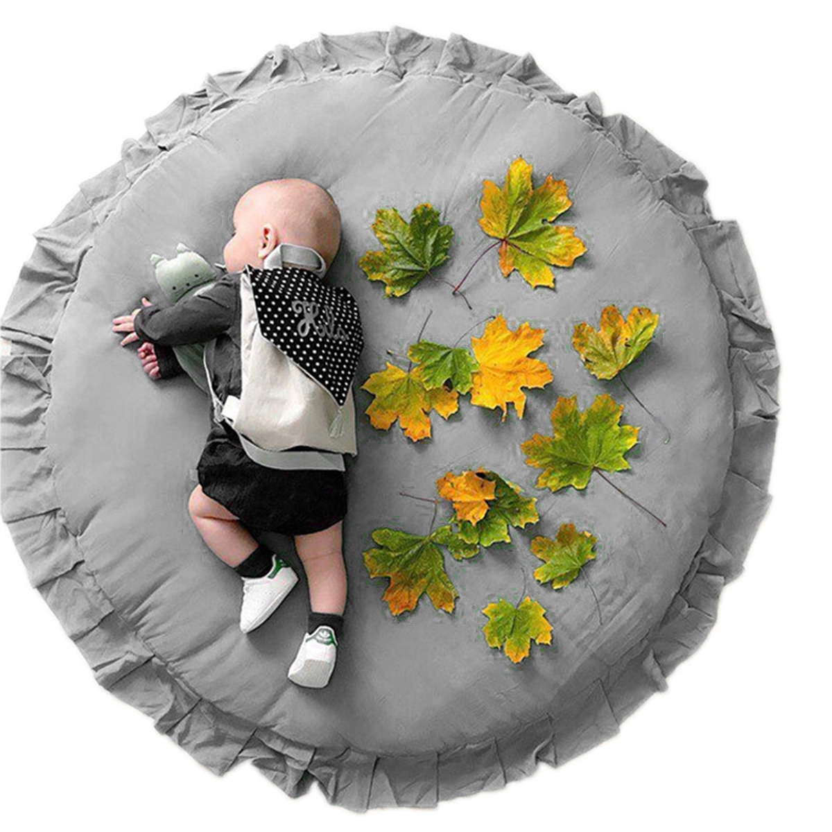105CM Round Soft Baby Play Mats Cotton Padded Crawling Mats Play Carpet Girls Boys Kids Room Floor Rugs Nordic Decoration Props