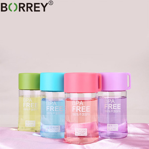 BORREY Colored Plastic Small Water Bottles Portable School Water Bottles Bpa Free Mini Cute Kids Children Direct Drinking Bottle