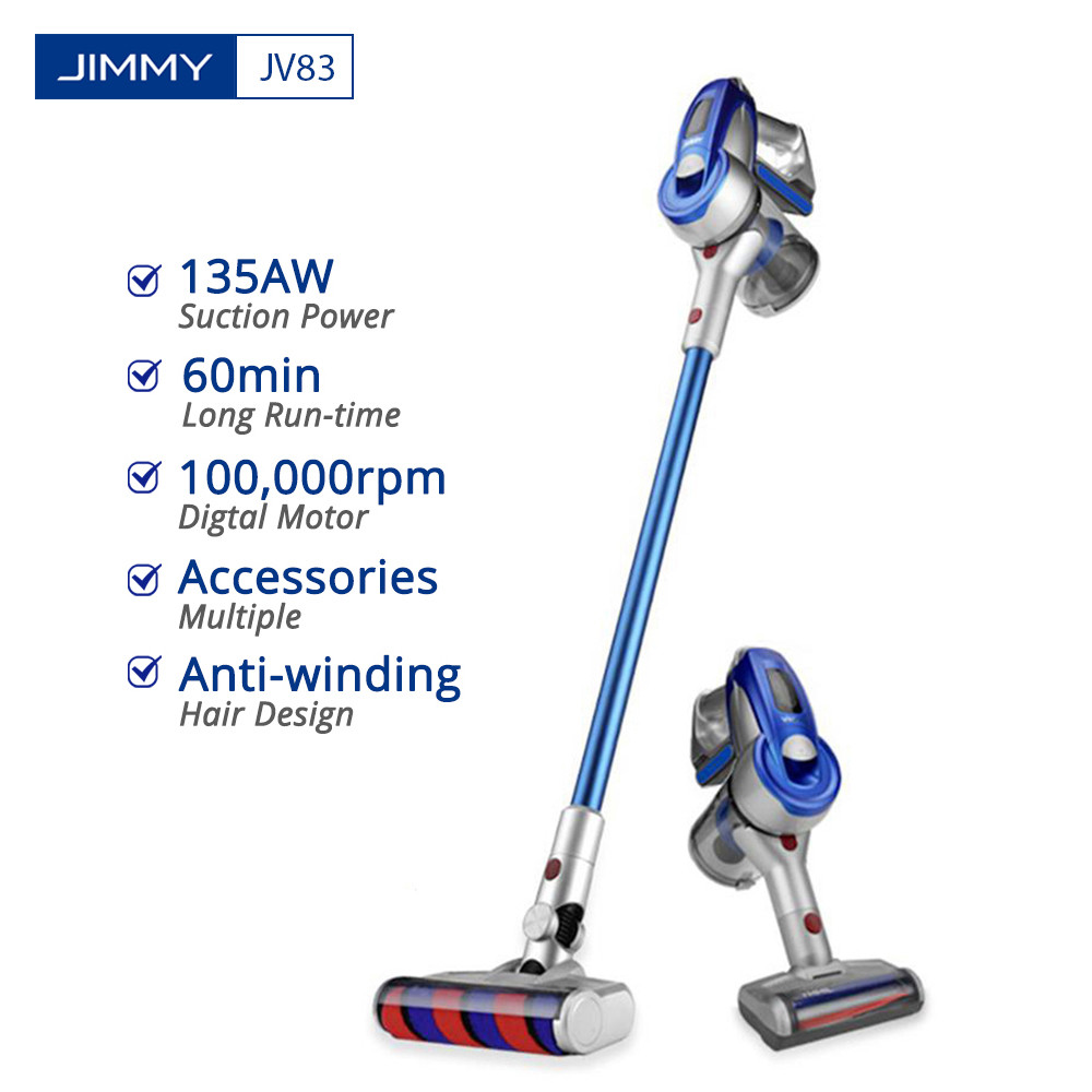 Vacuum Cleaner JIMMY JV83 Wireless Handheld Cordless Stick Vacuum Cleaner Digital Motor 20kPa Dust Vacuum Collector For Home