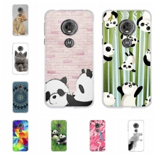 For Motorola Moto E5 Case Soft TPU Silicone For Motorola Moto G6 Play Cover Panda Patterned For Motorola Moto E 5th Gen. Shell цена и фото
