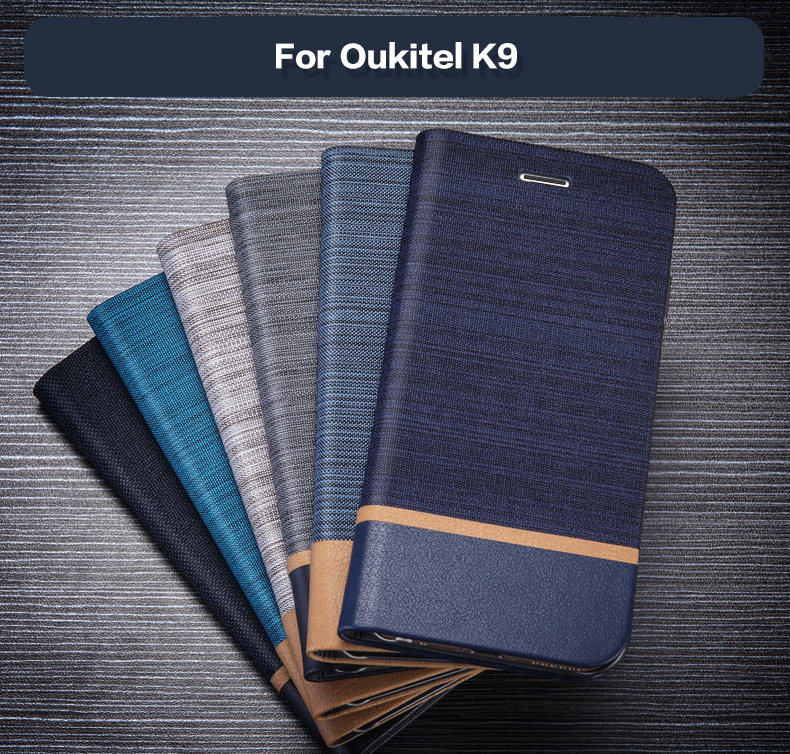 Wallet-Case Oukitel K9 Back-Cover Business Soft-Silicone