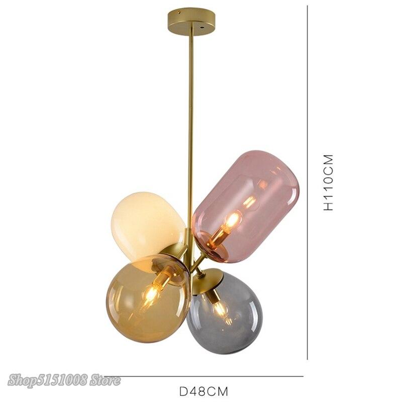 Цветной светодиодный подвесной светильник в скандинавском стиле с воздушным шаром, Подвесная лампа для детской комнаты, спальни, столовой, освещение, Декор - 6