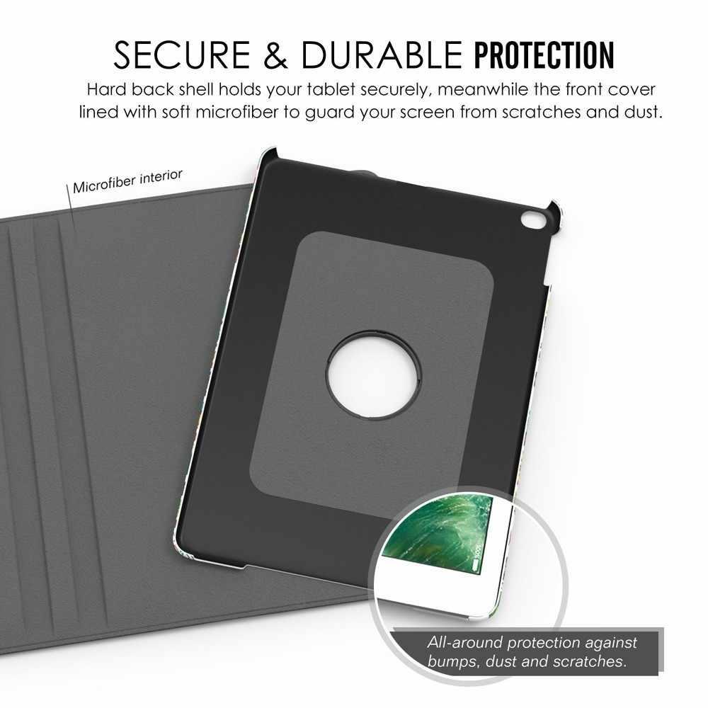 360 Graden Roterende Stand Case Voor IPad 2018 2017 9.7 IPad Air 1/2 Case PU Leather Flip Cover Case Voor IPad 6th/5th Generatie