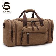 大容量男性手荷物旅行ダッフルバッグキャンバス旅行バッグ週末ショルダーバッグ多機能一晩ダッフルバッグ