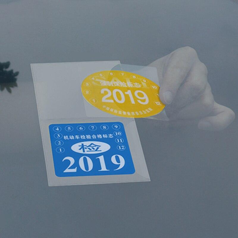 Автомобильный страховой стикер s без отрыва мешок годовой осмотр обязательный автомобиль лобовое стекло ESD стикер для Renault Mercedes Toyota, opel