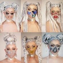 Sparkling Rhinestone Pearls Party Masks Women Men Nightclub Prom Crystal Face Decoration Club Singer Dancer Stage Accessories