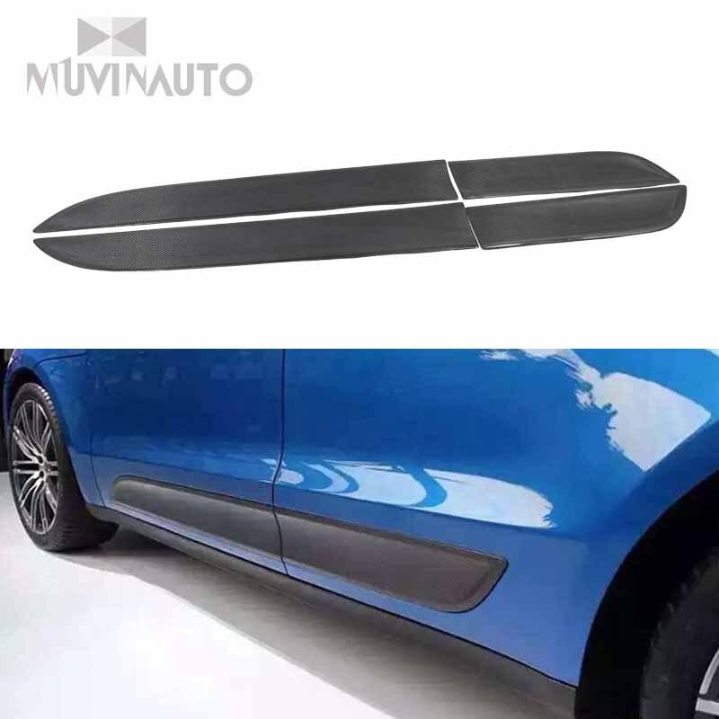 Авто tur Schutz Seite Korper Rocke для Porsche Macan литье Авто Tur панель отделка из углеродистой schwarz platte отделка zubehor 2014 +