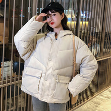 2019 Jacket Women Winter Fashion Warm Thick Solid Short Style Cotton padded Parkas Coat Stand Collar free shipping 2017 new mens down parkas winter brand jacket thick cotton solid stand collar coats warm fashion coat slim 110hfx