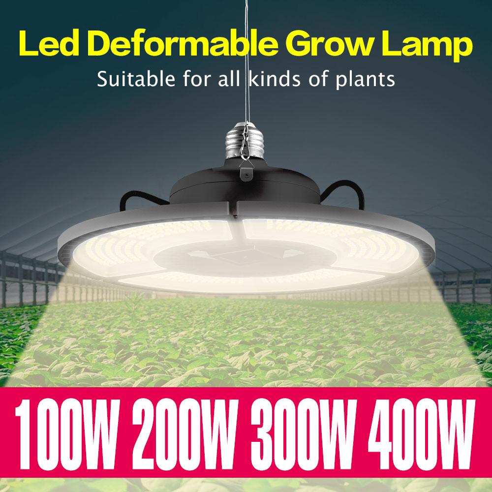Growing Light LED Full Spectrum Bulb E27 LED Grow Light 100W 200W 300W 400W E26 LED Plant Growth Lamp Flower Seeds Phyto Lamp