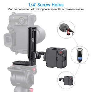 Image 4 - Universal DSLR Camera L Bracket Vertical Horizontal Switching Tripod Head Quick Release Plate Arca Swiss Compatible with Canon