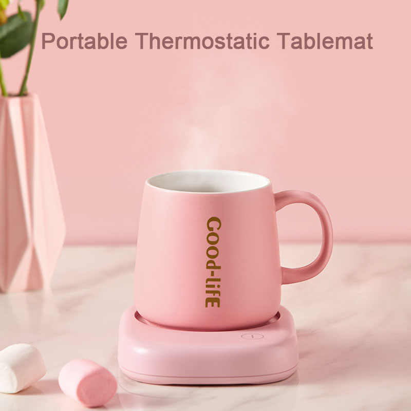 الذكية كوب لشرب القهوة دفئا 90 فولت-220 فولت للمنزل مكتب أفضل هدية فكرة الكهربائية كوب المشروبات لوحة سيراميك للحليب الشاي الكاكاو المياه