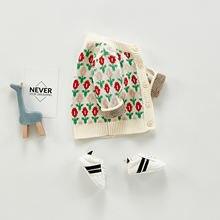 Свитер для новорожденных девочек с длинным рукавом Осень зима