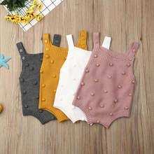 Весенняя одежда для новорожденных; Трикотажные Комбинезоны маленьких