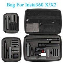 Caso de armazenamento para insta360 um x x2 bolsa de transporte insta 360 câmera panorâmica caixa acessório (grande médio pequeno)