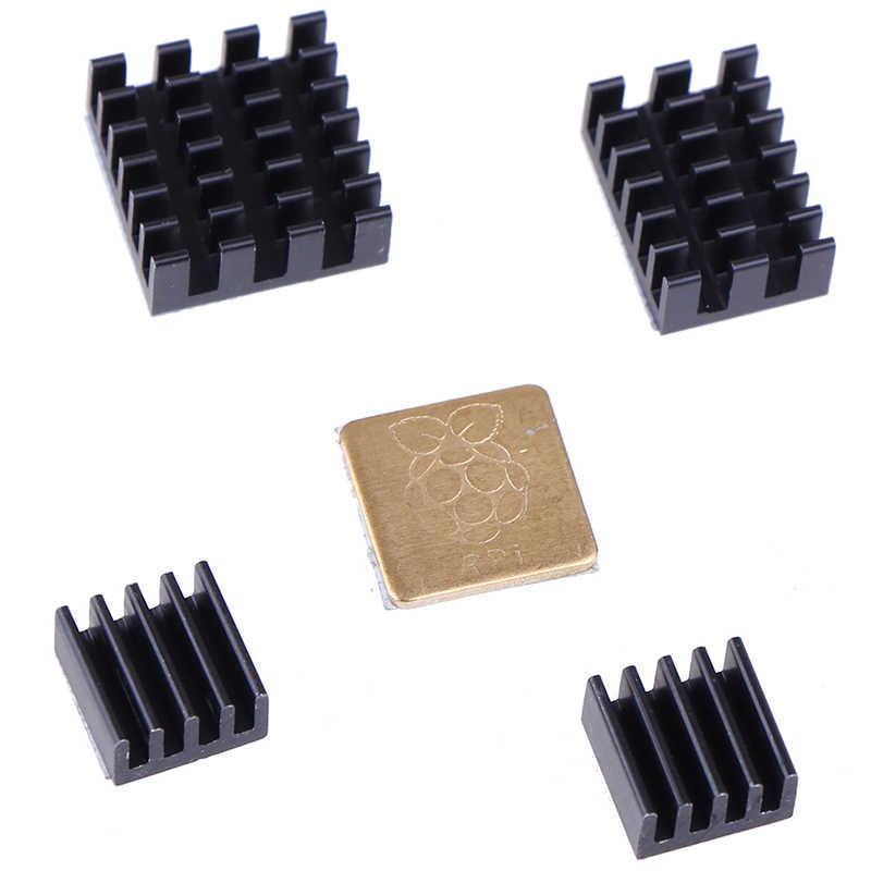 5 sztuk/zestaw ze stopu aluminium ze stopu aluminium dla Raspberry Pi 2/3/4 3B + 4B Radiator aluminiowy zestaw do chłodnicy