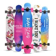 Monopatín profesional completo Longboard Baile callejero Longboard Skateboard Downhill Maple Deck Board