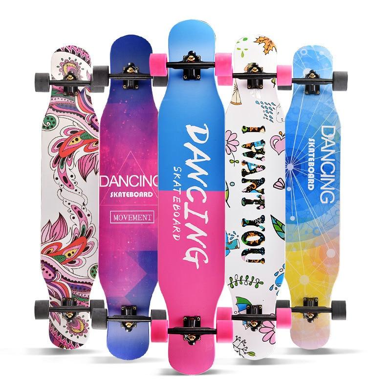 Professional Complete Longboard Skateboard Street Dancing Longboard Skateboard Downhill Maple Deck Board-in Skate Board from Sports & Entertainment