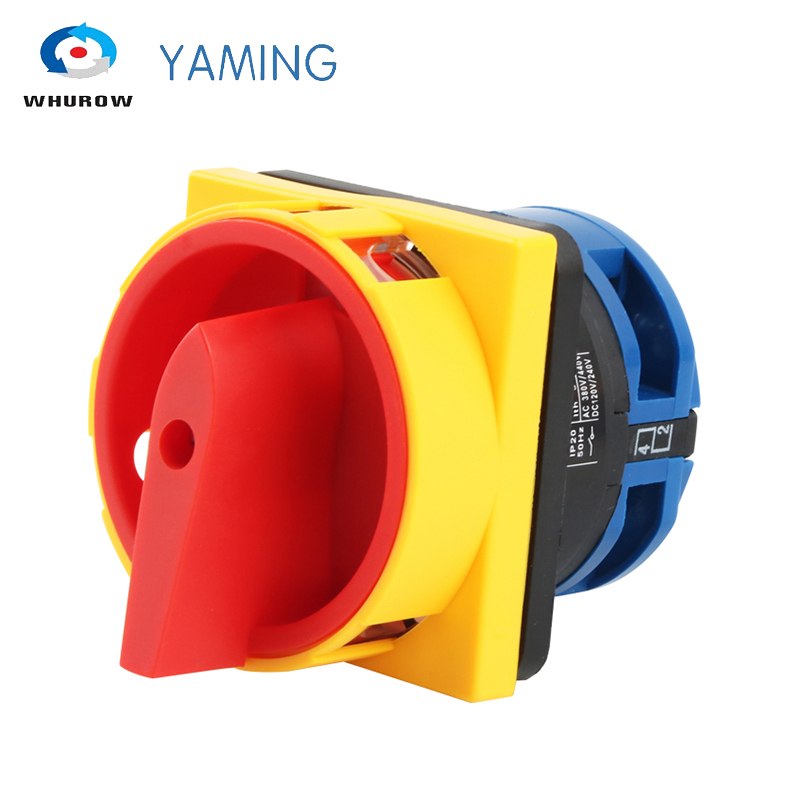 32 amp 1 pole isolator switch rotary cam changeover switch pad lock on-off power switch main disconnect switch YMW26-32/1GS