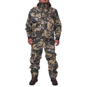 Image 1 - 2019 Hunting suiCamouflage Outdoor Jacket Men Waterproof Hunting Clothes Windbreaker Jacket Coat The same paragraph sitka