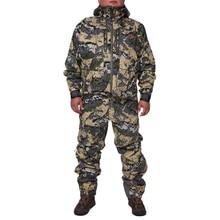 2019 الصيد suiCamouflage معطف للأماكن الخارجية الرجال مقاوم للماء الصيد الملابس سترة واقية سترة معطف نفس الفقرة sitka