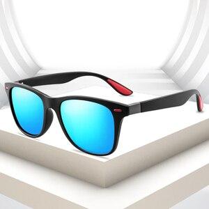 Image 4 - الكلاسيكية UV400 الاستقطاب نظارة شمس رياضية الرجال النساء القيادة نظارات إطار مربع نظارات شمسية سائق الذكور حملق Z2