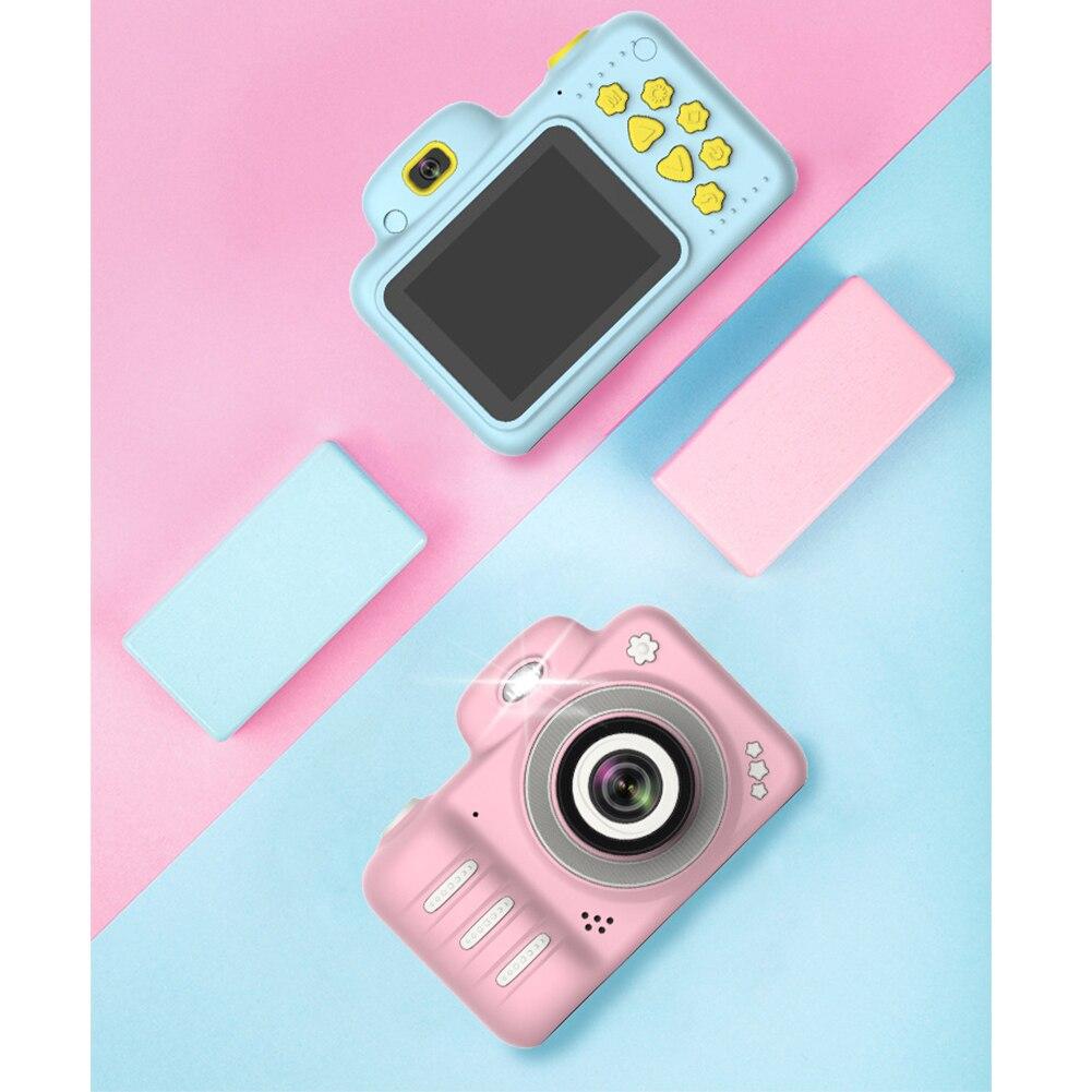 H887aa4a68f434a419562f07da541e641O Camera Gifts Video With Memory Card DSLR Camcorder Dual Lens Cartoon Kids Toys Shockproof Mini Digital ABS 2.4 Inch Screen