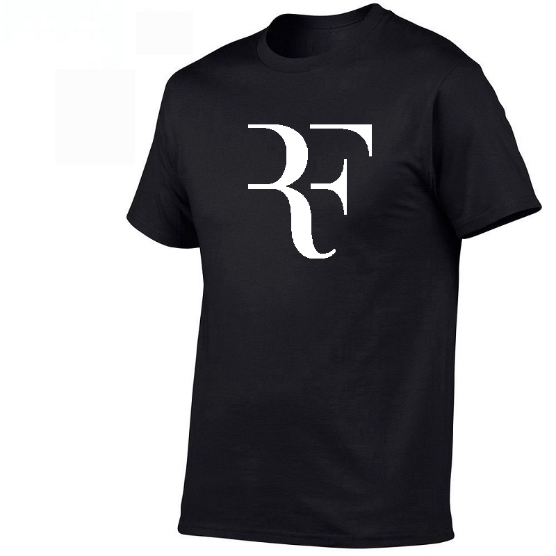 2019 New Roger Federer RF Men T Shirts Cotton O Neck Short Sleeves Casual T Shirts American Apparel Mens Shirt Wholesale Top