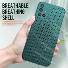 Heat dissipation Breathable case for Samsung Galaxy A71 A51 Hollow Solid color color