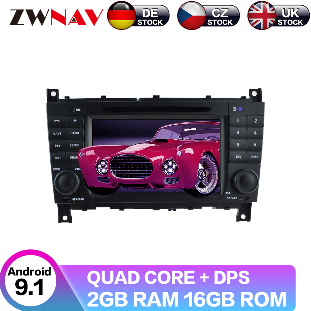 <font><b>Android</b></font> 9 With DSP For Benz clase C <font><b>W203</b></font> 2004-2007 Auto radio Car No DVD video player Multimedia GPS navigation Radio Tape image