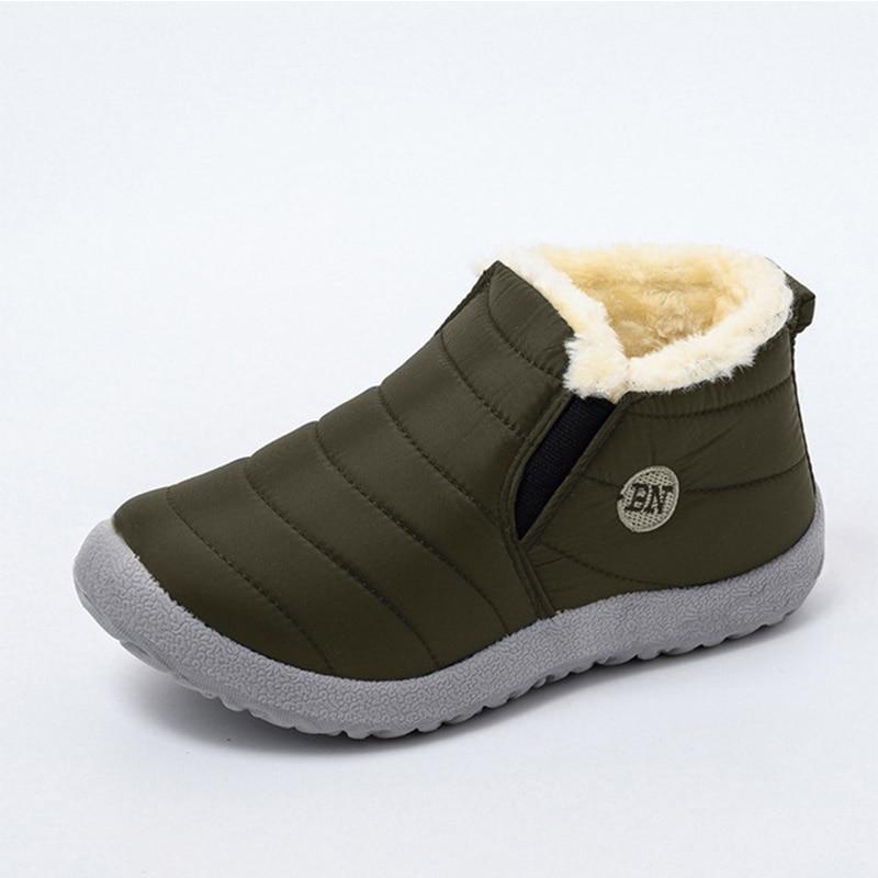 Snow Boots Women Shoes Warm Plush Fur Ankle Boots Winter Female Slip On Flat Casual Shoes Waterproof Ultralight Footwear 17