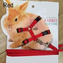 Corda ajustável da tração do coelho da trela do chicote de fios macio do coelho do animal de estimação para correr