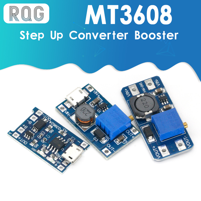 MT3608 DC-DC регулируемый Повышающий Модуль 2А Повышающий Модуль с MICRO USB 2в-24в до 5В 9В 12В 28В